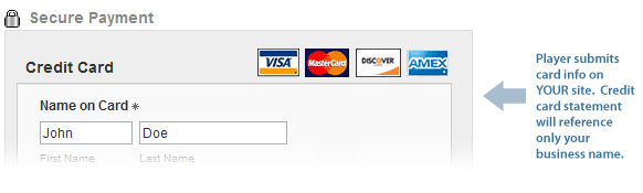 Checkout example with your own Merchant Account