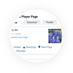 Player page screenshot